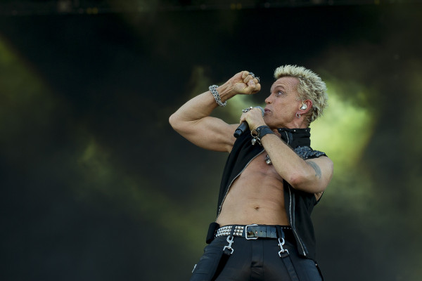 Billy Idol (UK) at Sweden rock festival