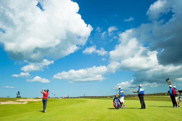 Helt underbart väder för golf på Nordea Masters 2014.
